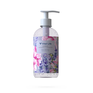 the Vital Life 250ml Lavender & Geranium pump top bottle