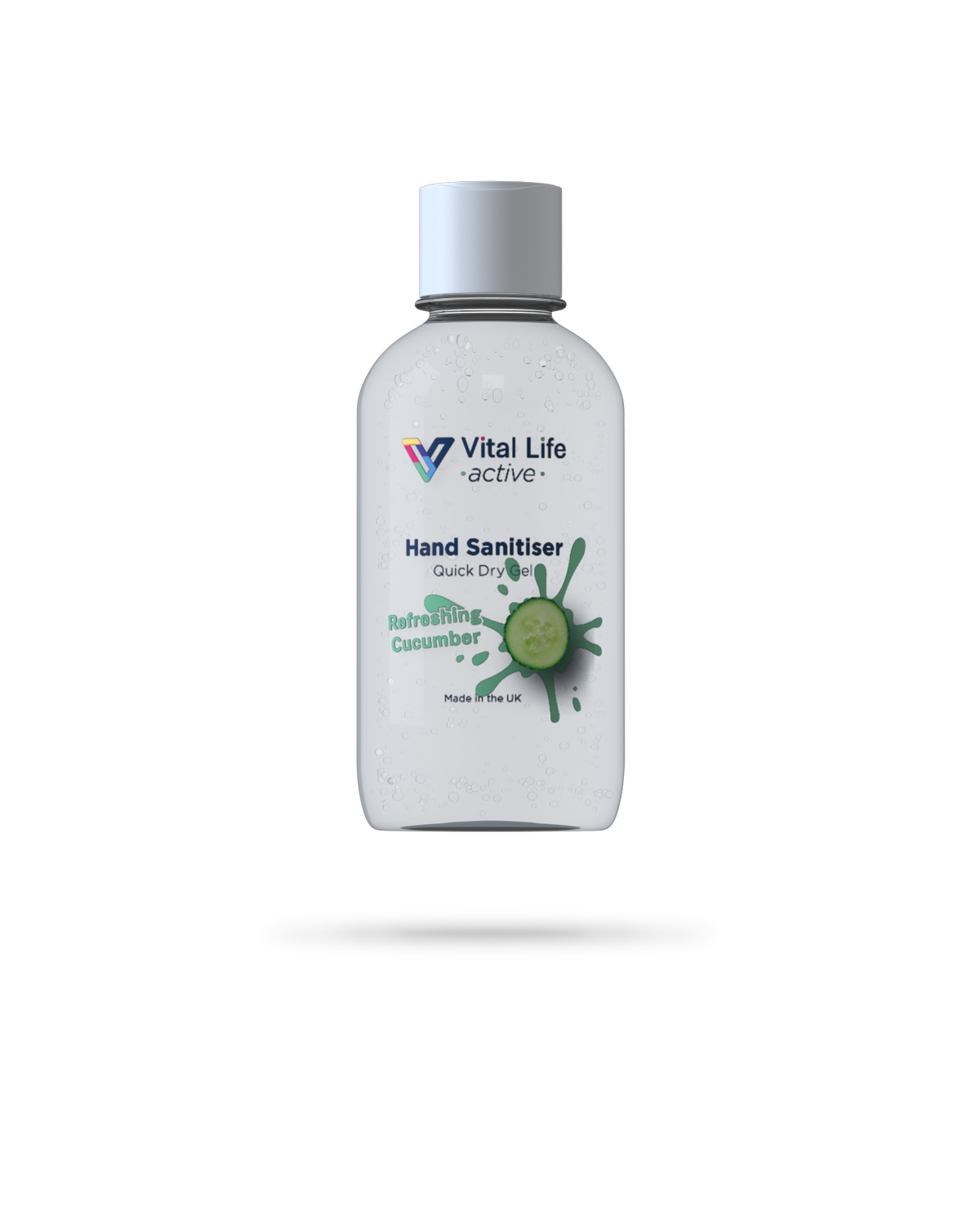 100ml Active range of Refreshing Cucumber scented hand sanitiser gel from Vital Life