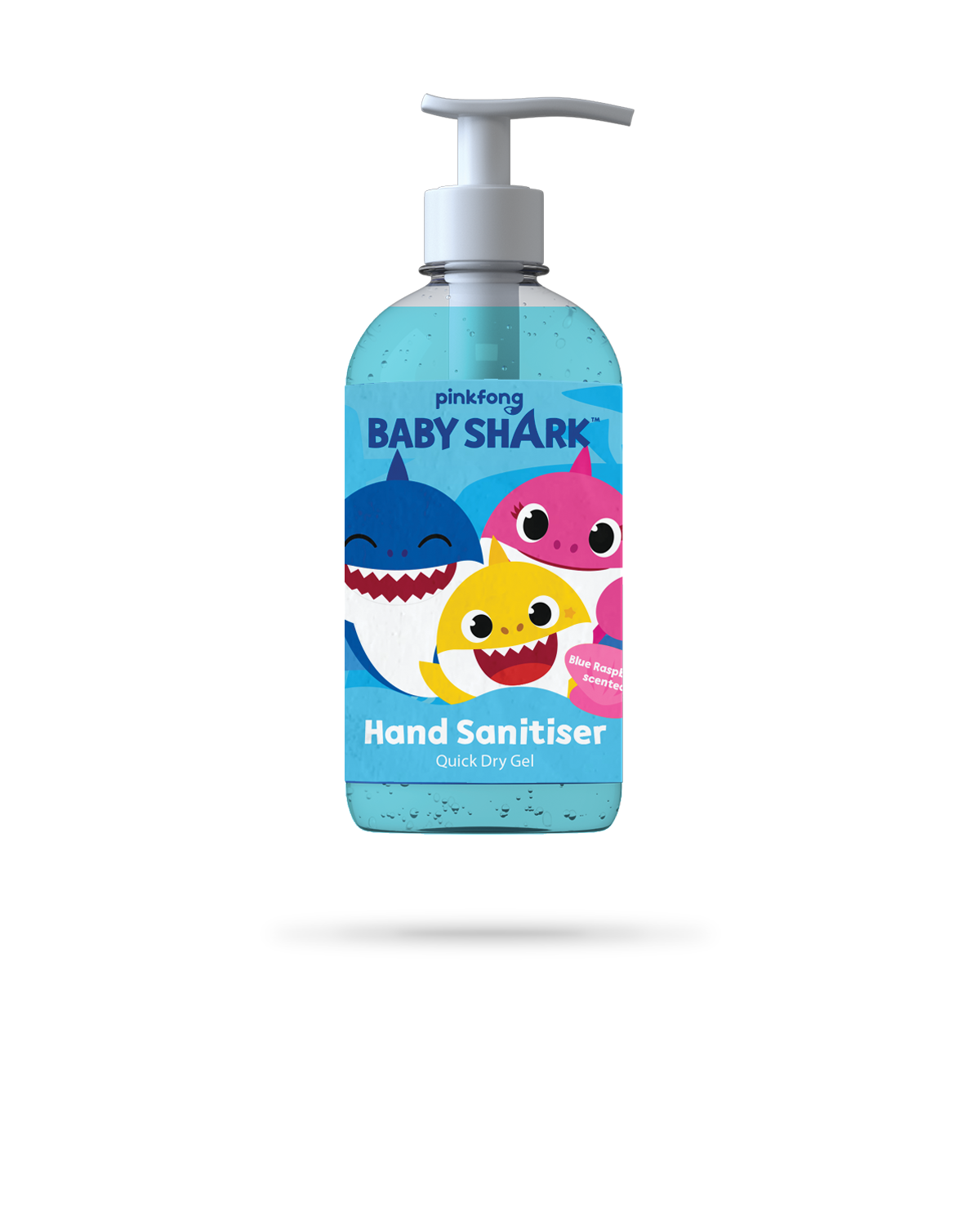 Blue Raspberry Hand Sanitiser Gel -  250ml - Baby Shark