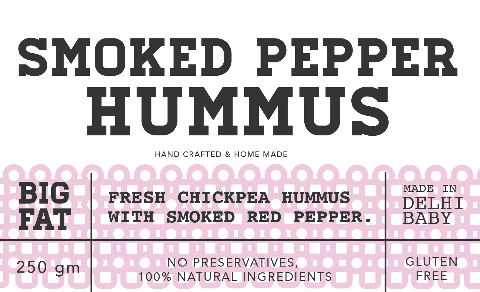 Smoked pepper hummus 250g