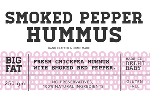 Smoked pepper hummus