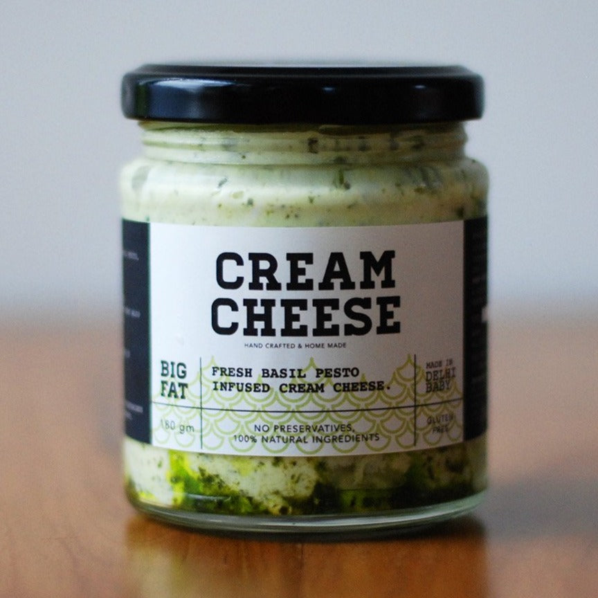 Pesto cream cheese