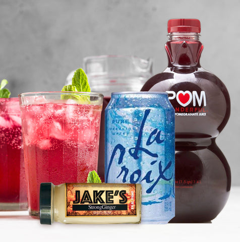 Sparkling Water Pomgranite and Jake's