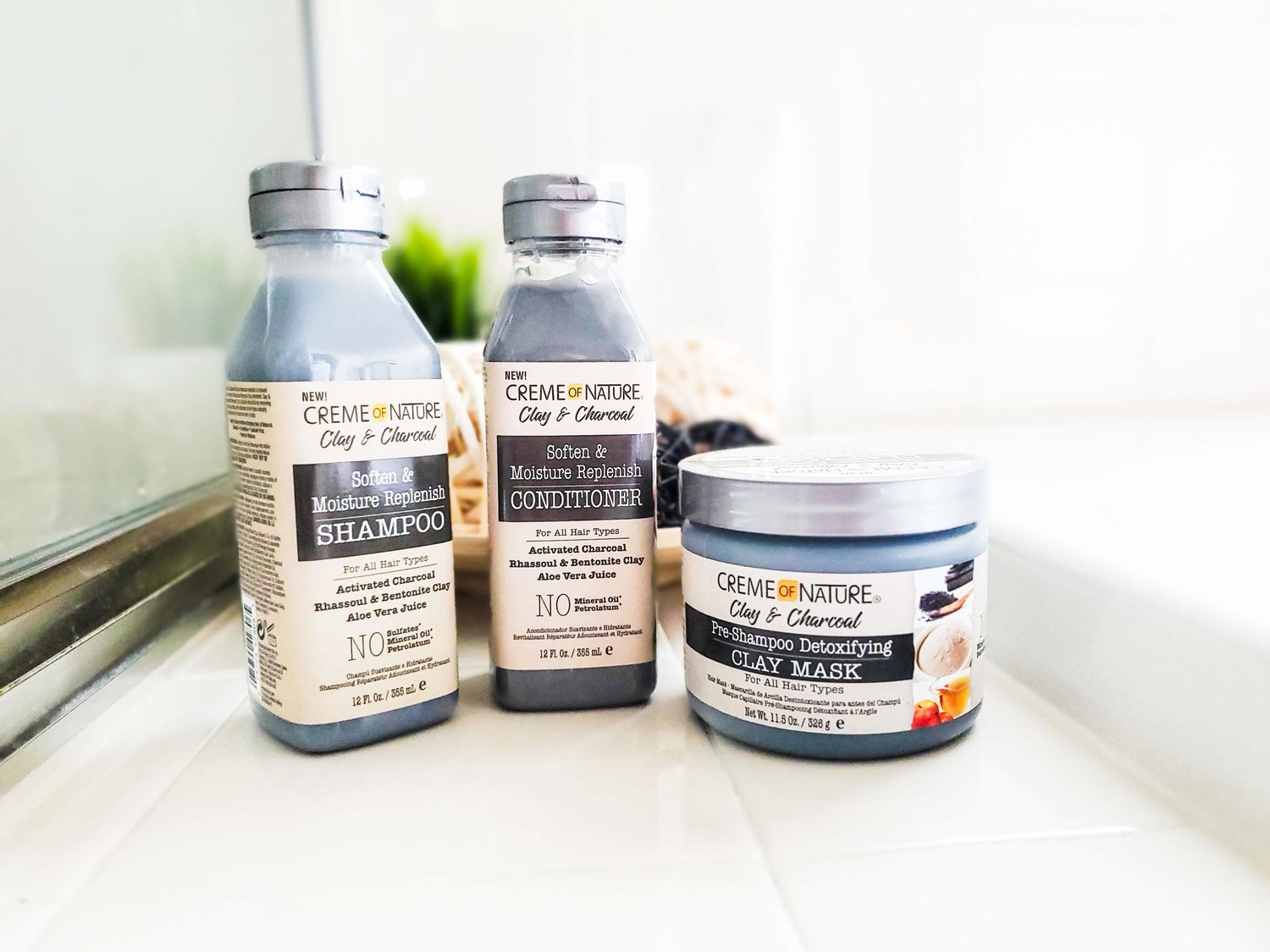 Benefits of clay mask for hair - Creme of Nature's New Clay and Charcoal Collection