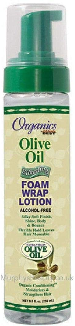 Organics by Africa's Best Olive Oil Silkening Foam Wrap Lotion 8.5oz