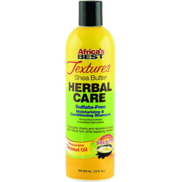 Africa's Best Textures Shea Butter Herbal Care Sulfate-Free Moisturising & Conditioning Shampoo (355ml - 12 oz.)