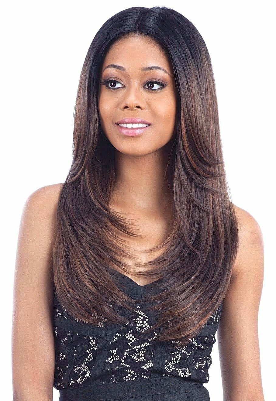 FREETRESS EQUAL 6 INCH LACE PART LONG STRAIGHT HAIR WIG MAC