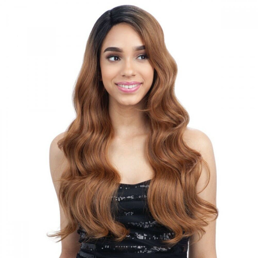 FREETRESS EQUAL SYNTHETIC LACE FRONT LONG CURLY WAVY HAIR WIG - FREEDOM PART 202