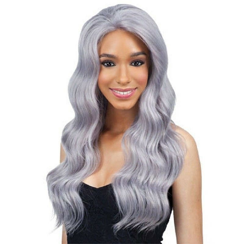 Freetress Equal Synthetic Lace Front Long Wavy Hair Wig - Chrome