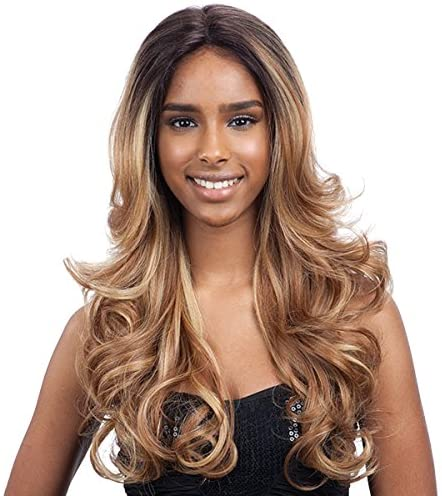 Freetress Equal Synthetic Premium Delux Lace Front Long Wavy Hair Wig - CORIN