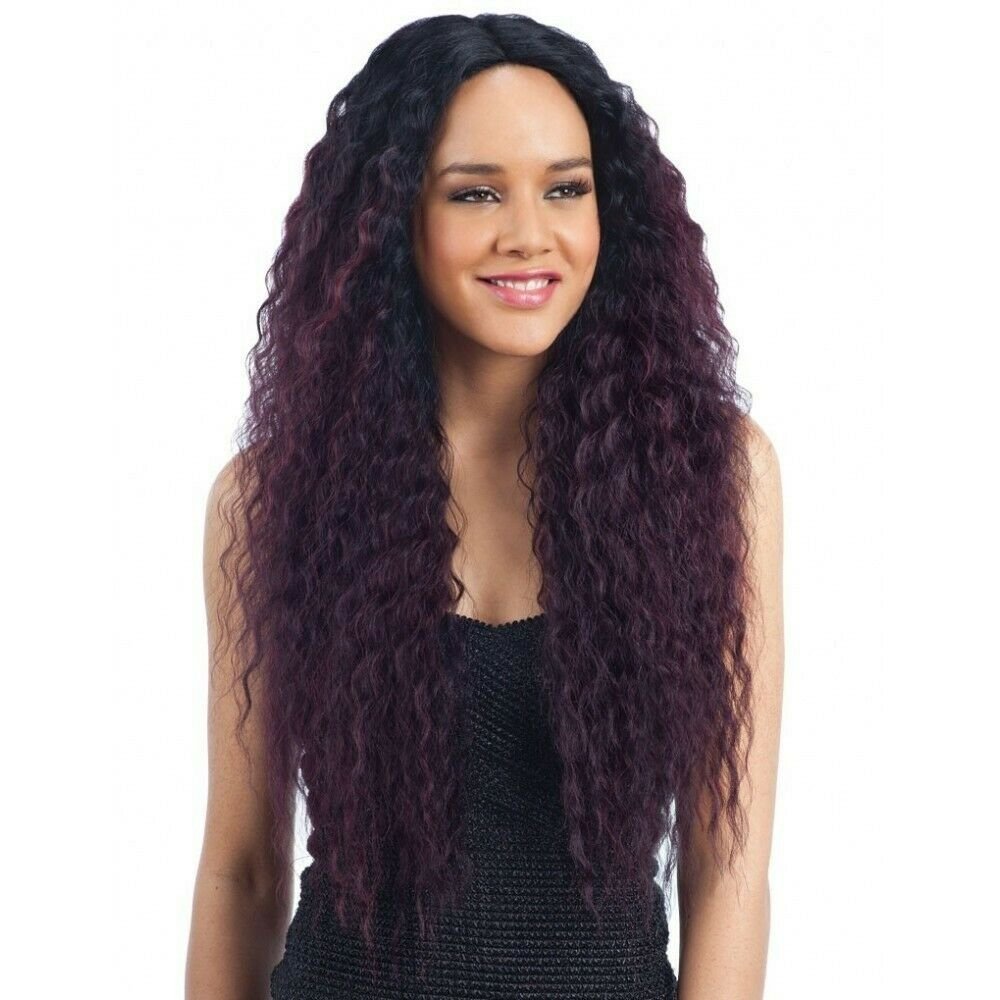 FREETRESS EQUAL SYNTHETIC 6 INCH LACE PART LONG CURLY HAIR WIG - MAXI