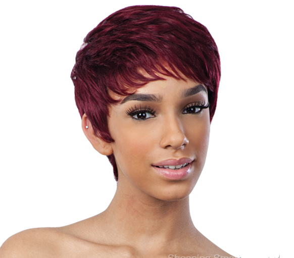 SAGA 100% REMY HUMAN HAIR WIG MINT CREAM