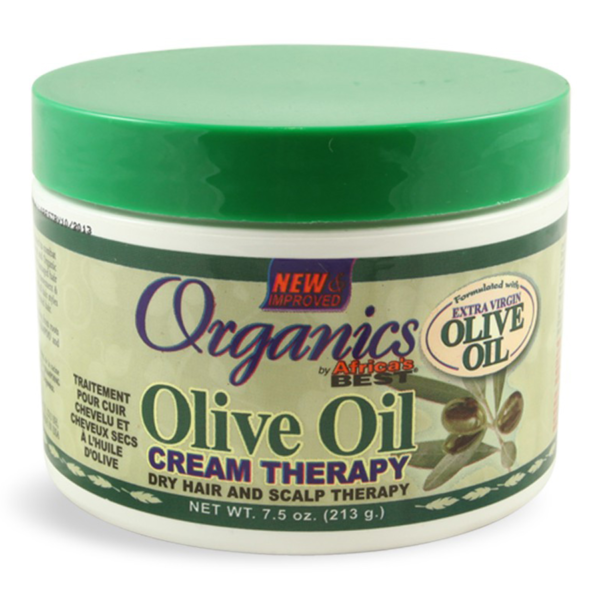 ORGANICS BY AFRICA'S BEST OLIVE OIL CREAM THERAPY ( 213G - 7.5OZ)