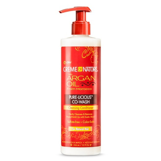 Creme of Nature Argan Oil Pure-licious Co-wash Cleansing Conditioner 355ml - 12oz