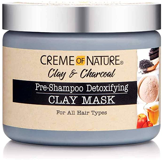 Creme of Nature Clay & Charcoal Pre-Shampoo Detoxifying Hair Mask for All hair types 326g