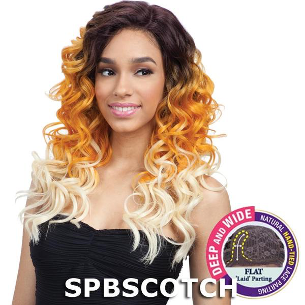 FreeTress Equal Premium Delux Long Curly Hair Wig TOBY