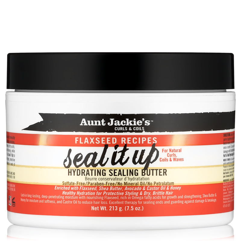 Aunt Jackie's Curls & Coils Flaxseed Recipes Seal It Up Hydrating Sealing Butter (213g - 7.5 oz.)