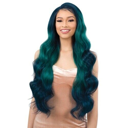 FREETRESS EQUAL SYNTHETIC PREMIUM DELUX LACE FRONT LONG NEON HAIR WIG - ALY 30