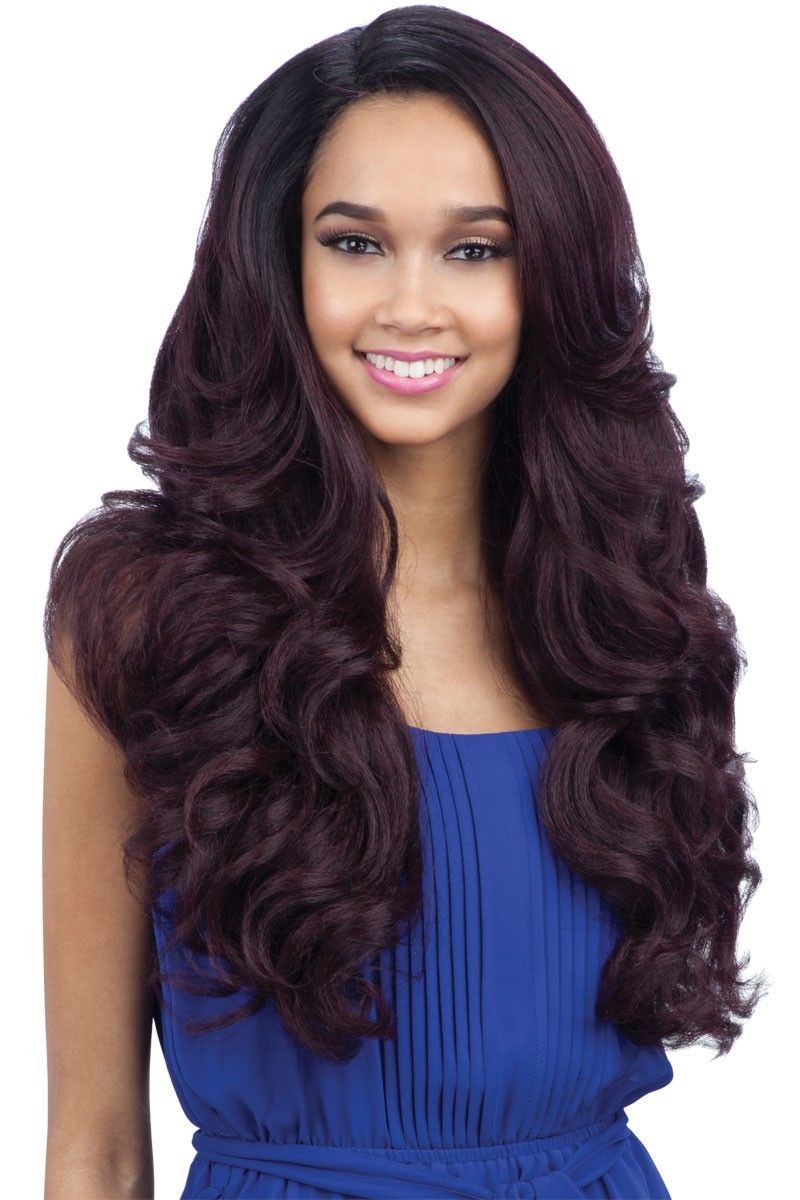 Freetress Equal Deep Invisible L Part Lace Front Curly Hair Wig Folami