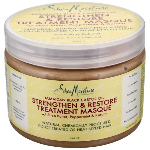 SheaMoisture Jamaican Black Castor Oil Strengthen, Grow & Restore Treatment Masque ( 354 ml - 12 fl oz.)