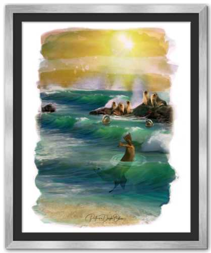 MEMBERS OF THE OCEAN CLUB -  Framed Fine Art Paper Prints Mirror Silve
