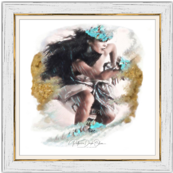 ANCIENT WIPEOUT - Framed Fine Art Paper Prints Frame: White Rustic