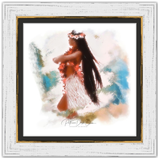 PROUDLY POSED - Framed Fine Art Paper Prints Frame: White Rustic