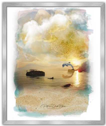 SUN SHINING DAY - Framed Fine Art Paper Prints