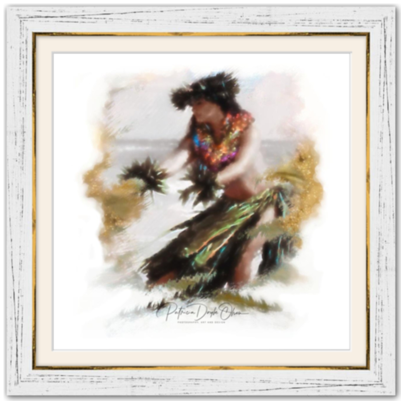 ADDRESSING THE EARTH - Framed Fine Art Paper Prints Farame- White Rustic
