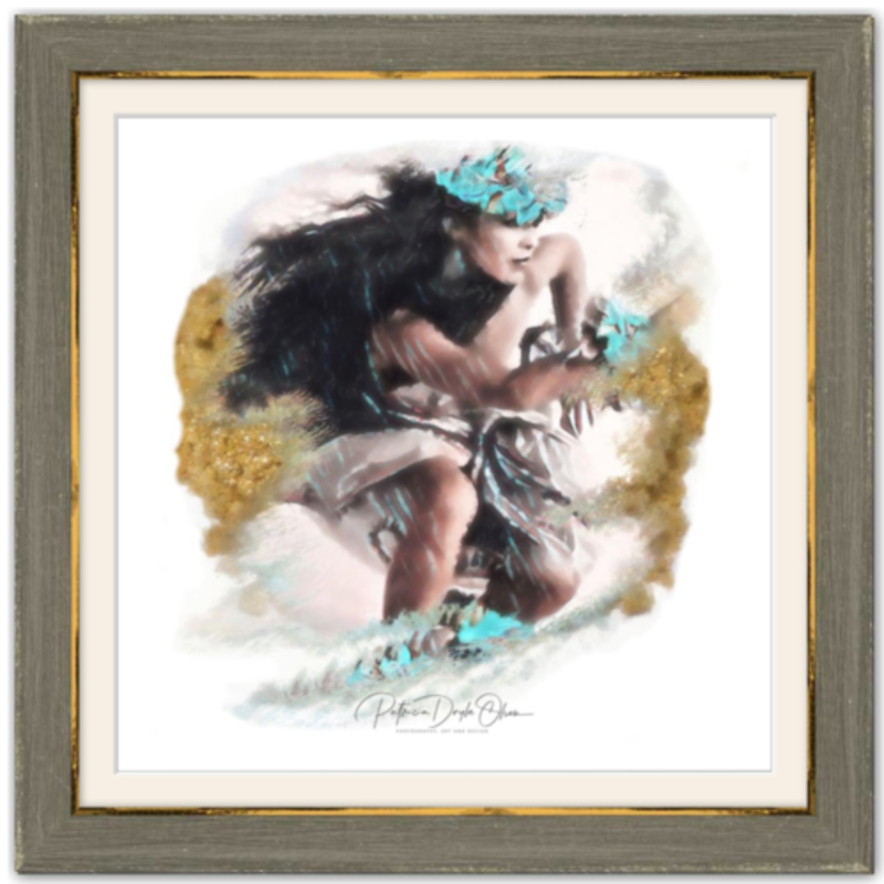 ANCIENT WIPEOUT - Framed Fine Art Paper Prints Frame: Brown Rustic