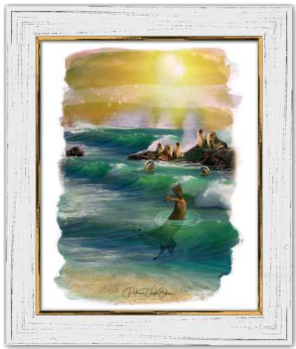 MEMBERS OF THE OCEAN CLUB -  Framed Fine Art Paper Prints