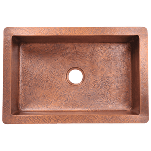 Polaris Single Bowl Copper Sink P309