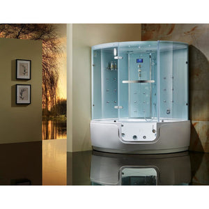 Maya Bath Comfort Luxury Walk-In Steam Shower White 200