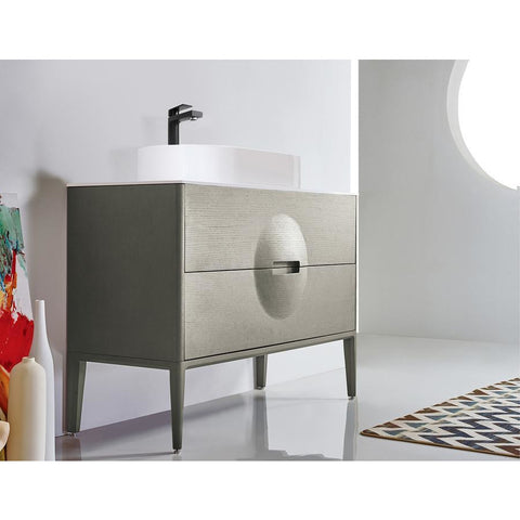 "Image of Karton Republic Colmar 48"" Olive Green Freestanding Modern Bathroom Vanity VACOLOG48FD"