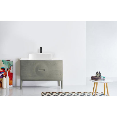 "Image of Karton Republic Colmar 48"" Olive Green Freestanding Modern Bathroom Vanity w/Sink VACOLOG48FD"
