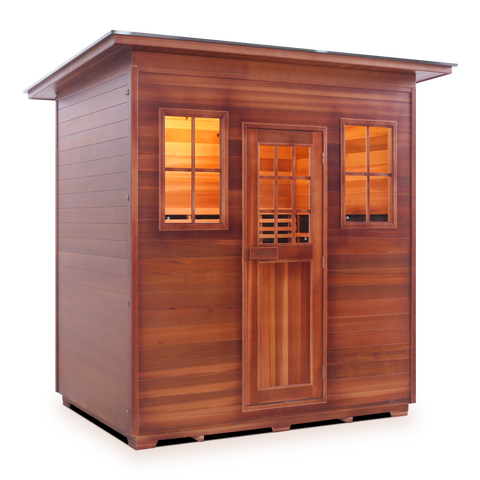 Image of Enlighten MoonLight- 5 Peak 5 Person Dry Traditional Outdoor/Indoor Sauna T-16380