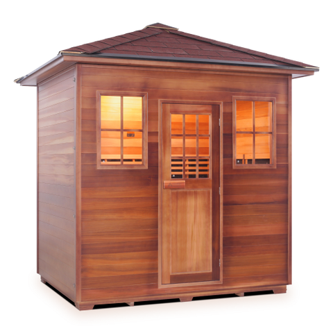 Enlighten Sierra - 5 Person Indoor/Outdoor Peak Infrared Sauna 16380