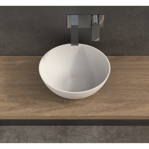 "Image of Ideavit Solidthin-39 16"" Round Vessel Bathroom Sink PS IDV 280181"