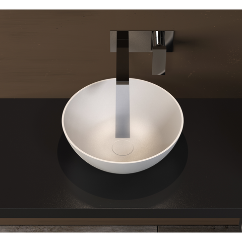 "Ideavit Solidthin-39 16"" Round Vessel Bathroom Sink PS IDV 280181"