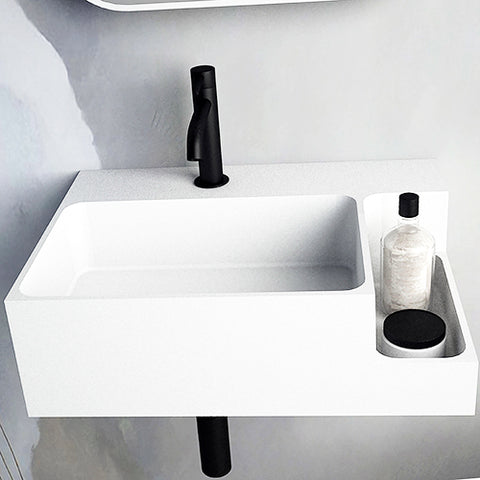 Image of Ideavit Soliddual Wall Mount Floating Vanity  Bathroom Sink -Shelf PS IDV 290274