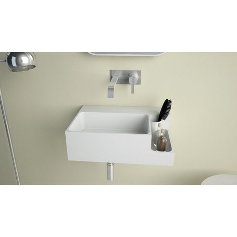 Ideavit Soliddual Wall Mount Floating Vanity  Bathroom Sink -Shelf PS IDV 290274