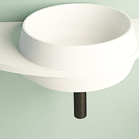 Image of Ideavit Soliddual 3.0 Wall Mount Floating Vanity Bathroom Sink W/ Shelf PS IDV 290277