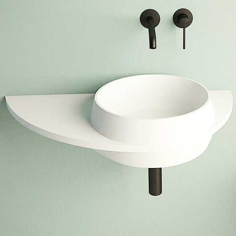 Ideavit Soliddual 3.0 Wall Mount Floating Vanity Bathroom Sink W/ Shelf PS IDV 290277