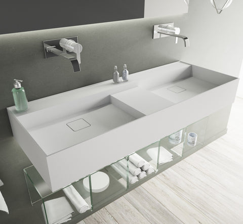"Image of Ideavit Solidbliss-120  48"" Wall Mount Floating Bathroom Vanity with Sink PS IDV 290283"