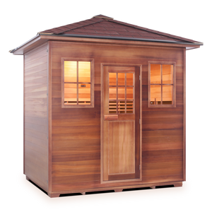 Enlighten MoonLight- 5 Peak 5 Person Dry Traditional Outdoor/Indoor Sauna T-16380