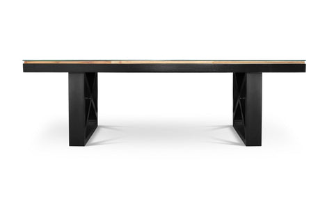 Image of Maxima House Kanto-T Glass Top Solid Wood Dining Table SCANDI126