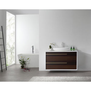 "Karton Republic Goreme 30"" Smoke Oak Gray Wall Mount Modern Bathroom Vanity VAGORSM30WM"