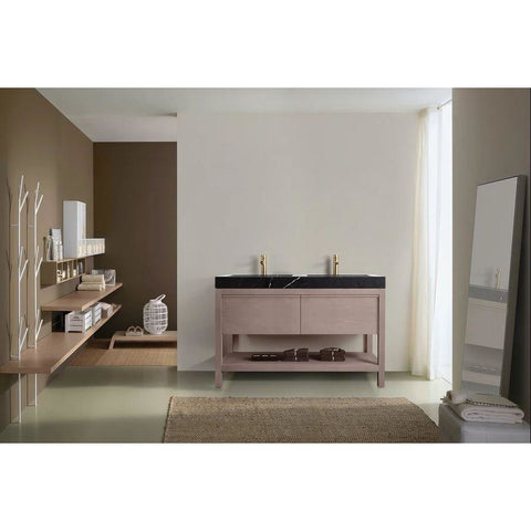 "Image of Karton Republic Bibury 48"" Chestnut Oak Freestanding Modern Bathroom Vanity VABIBCO48FD"