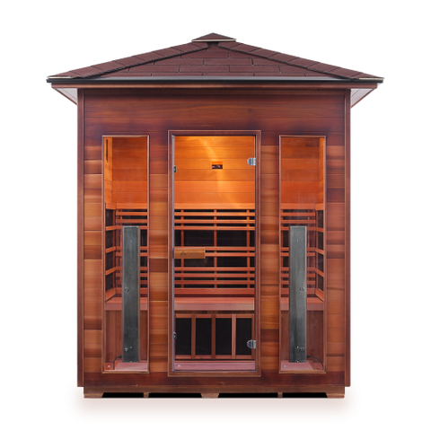 Enlighten Rustic - 4 Person Indoor/Outdoor Peak Infrared Sauna 17378