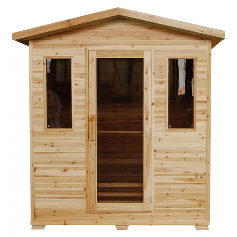 Image of SunRay Grandby 3-Person Infrared Outdoor Sauna HL300D